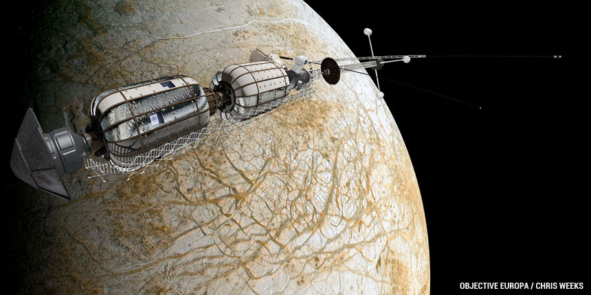 Orbiting Europa by Chris Weeks.