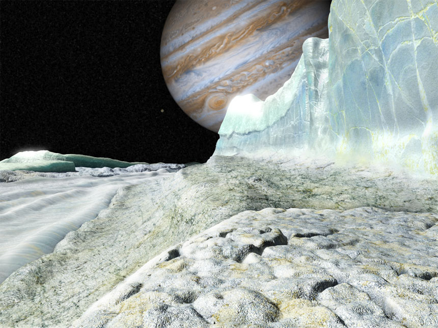 Europa surface - artists impression by Chris Weeks